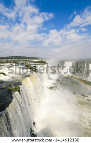 overview of landscape to iguacu waterfalls in Brazil #1414612130