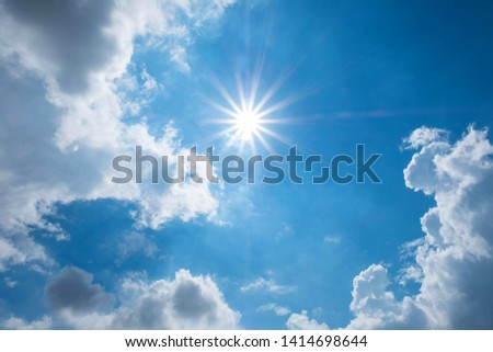 sun and sky with cloud  in the morning #1414698644