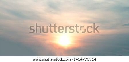Sun rise and sun set sky with cloud #1414773914