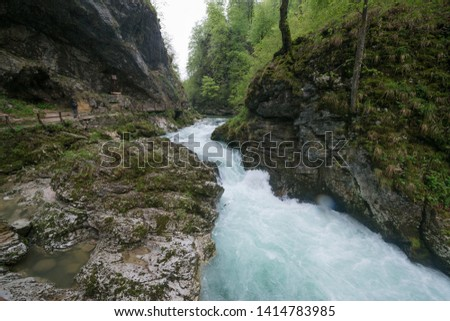 Vintgar Gorge in Julian Alps, Slovenia #1414783985