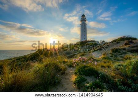 Sunset from Lighthouse´s Trafalgar, Cadiz, Spain #1414904645