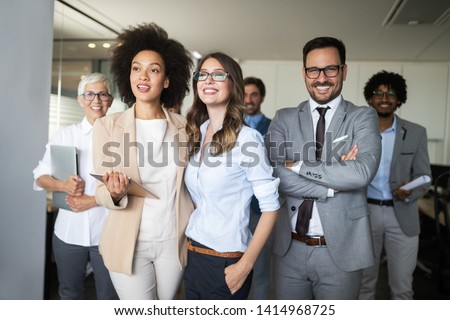 Corporate business team and manager in a meeting #1414968725