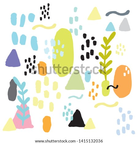 Cute Abstract background,Hand drawn cute abstract pattern,Design for fabric #1415132036