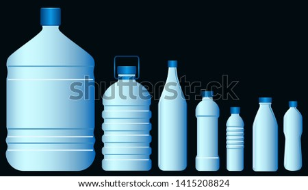 Set of plastic bottle graphic vector #1415208824