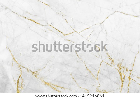White gold marble texture pattern background with high resolution design for cover book or brochure, poster, wallpaper background or realistic business #1415216861