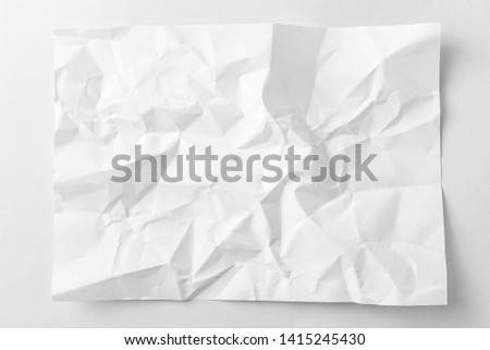 crumpled white paper texture background Royalty-Free Stock Photo #1415245430