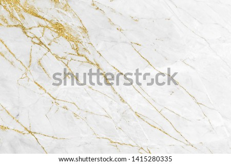 White gold marble texture pattern background with high resolution design for cover book or brochure, poster, wallpaper background or realistic business #1415280335