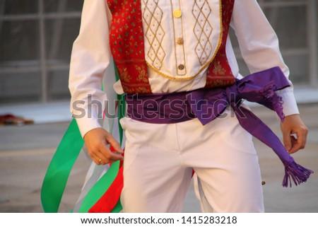 Basque traditional festival in a folk festival #1415283218