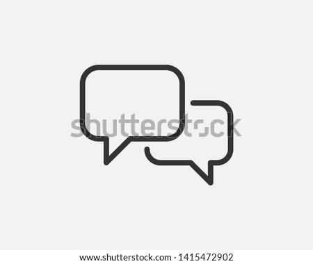 Talk bubble speech icon. Blank empty bubbles vector design elements. Chat on line symbol template. Dialogue balloon sticker silhouette.  #1415472902