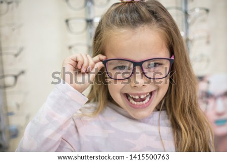 Hello world. Little girl with glasses. #1415500763