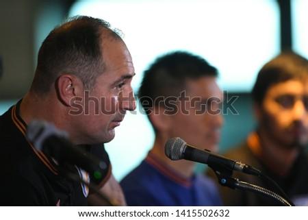 Buriram-Thailand-4Jun2019:Igor stimac head coach of india press conference official at chang arena,buriram,thailand #1415502632