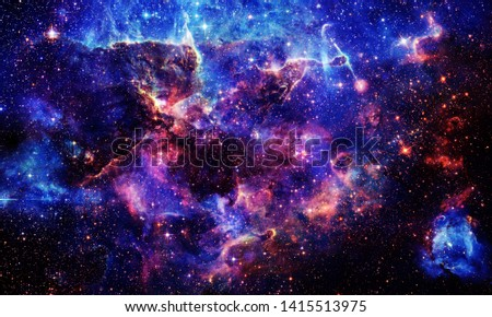 Chaos Galaxy - Elements of this Image Furnished by NASA