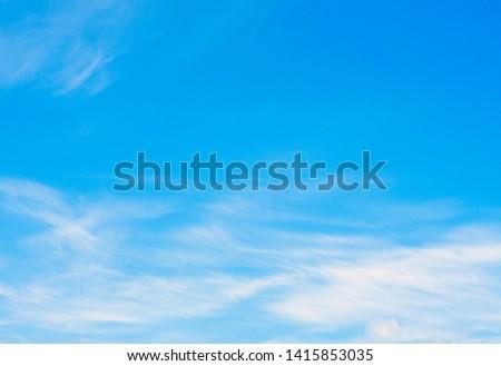 White clouds in blue sky #1415853035