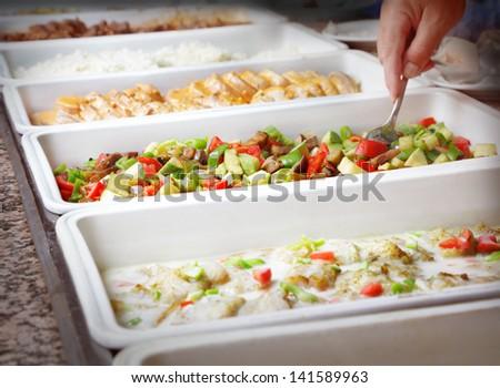 Buffet trays #141589963