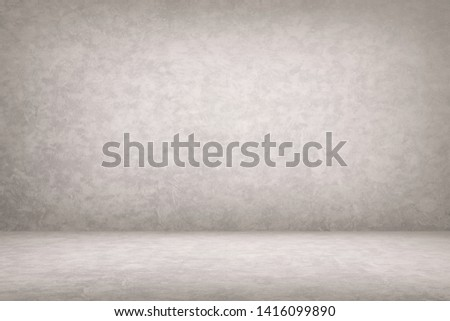 Abstract Concrete Room Background Using for Product Presentation Backdrop.