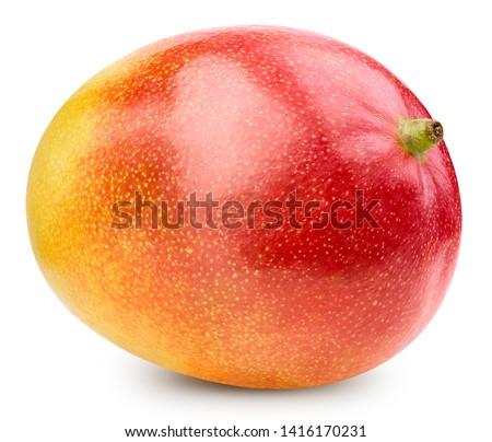 Mango isolated on white background. Mango Clipping Path. Best studio food photography #1416170231