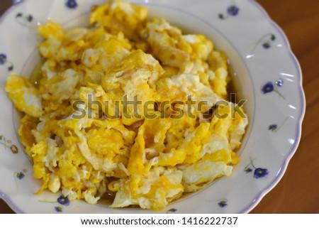 fried egg thai omllet thai food #1416222737