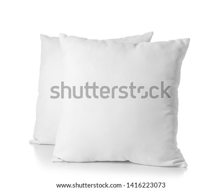Soft pillows on white background #1416223073