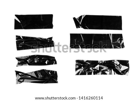 Black electrical tape isolated on white background #1416260114