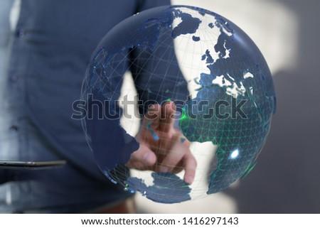 digital network solution in hand #1416297143