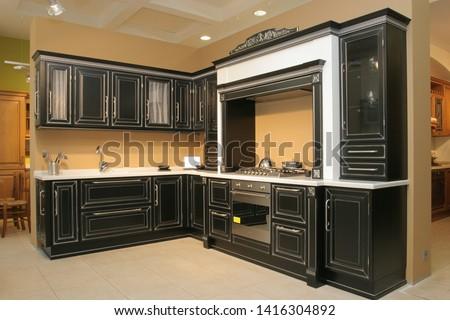 Kitchen furniture. Kitchen. Furniture exhibition. Furniture store #1416304892