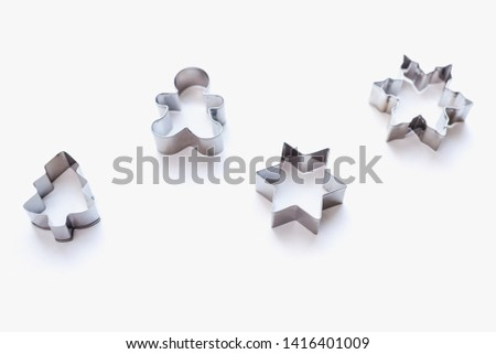 cookie cutters for homemade cookies, cookie cutters, cookie cutters on white background #1416401009