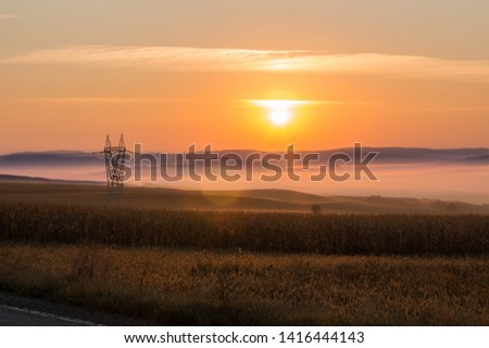 Very nice sunrise and the mountains #1416444143