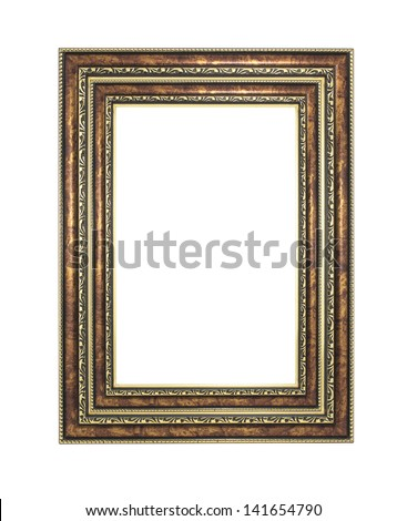 gold picture  frames. Isolated on white background #141654790