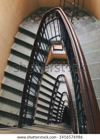 Stairs in an old Profitable House in Saint Petersburg, Russia #1416576986
