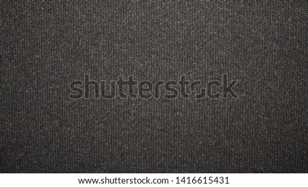 Texture black tight weave carpet.The dark background of the carpet. #1416615431
