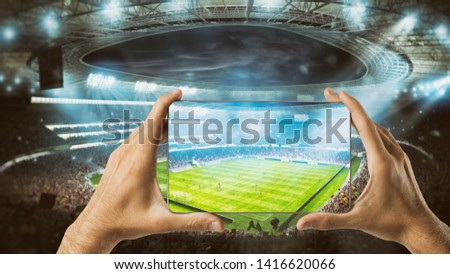 Watch a live sports event on your mobile #1416620066