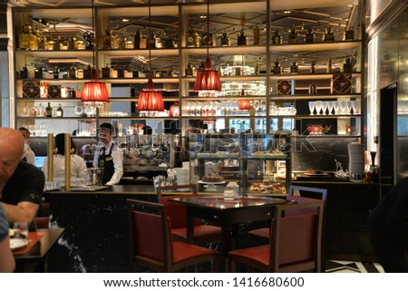 Vienna, Austria – May 25, 2019: Cafe Sacher Wien in Vienna, Austria, Europe #1416680600
