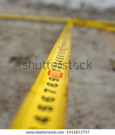 Measure with tape measure, tape measure,                             #1416813797