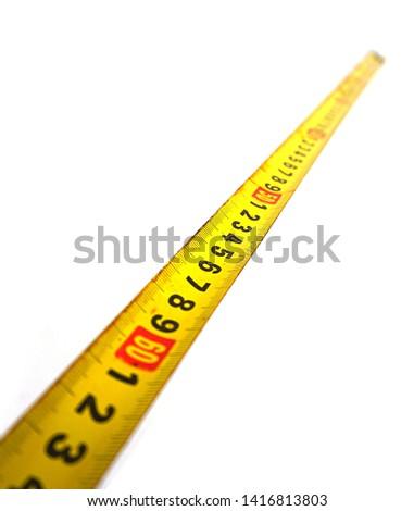 Measure with tape measure, tape measure,                             #1416813803