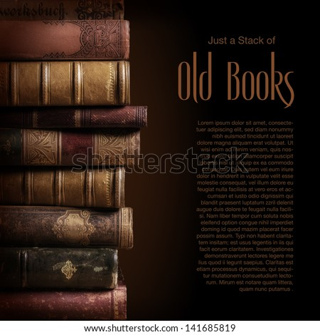 stack of old books, copyspace for your text #141685819