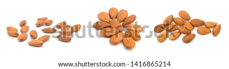 Almonds isolated on white background #1416865214