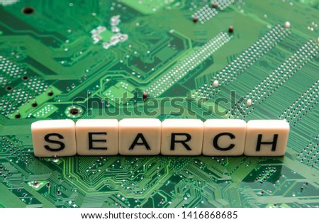 Search results from search engine query, searching the internet #1416868685