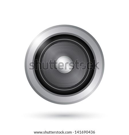 Audio speaker icon. Vector illustration #141690436