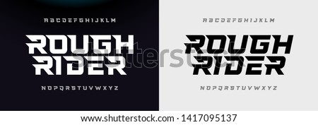 Sport Modern Italic Alphabet Font. Typography urban style fonts for technology, digital, movie logo design. vector illustration Royalty-Free Stock Photo #1417095137