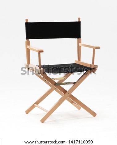 Director Chair on white background