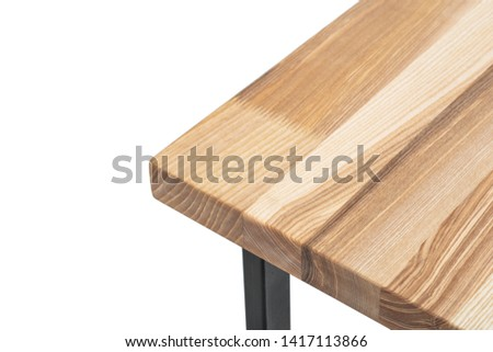 table corner, oak, glued furniture array, a piece of furniture on a white background #1417113866