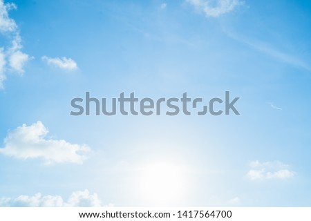 Blue sky with cloud at Phuket Thailand. #1417564700