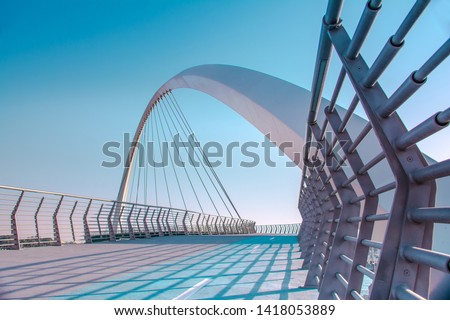 Dubai Tolerance bridge near famous water canal amazing modern architecture  Best place to visit in United Arab Emirates, Travel and tourism concept image #1418053889