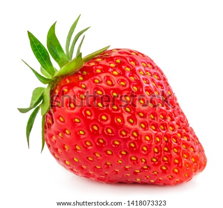 Strawberry isolated on white background. Clipping Path. #1418073323