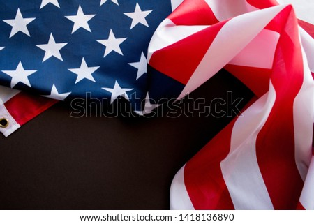 American Flag Wave Close Up for 4th of July. #1418136890