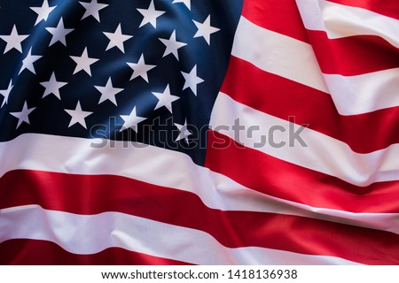 American Flag Wave Close Up for 4th of July. #1418136938
