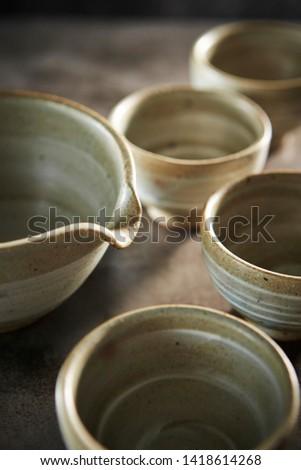 Crockery, tea utensil, pottery or ceramics  #1418614268