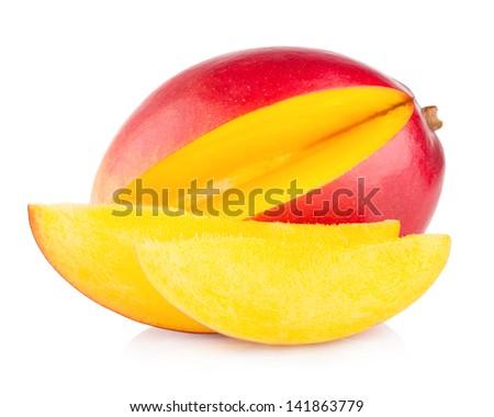 mango fruit isolated on white background #141863779