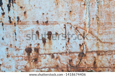 Old Weathered Grayish Scratched Metal Texture #1418674406