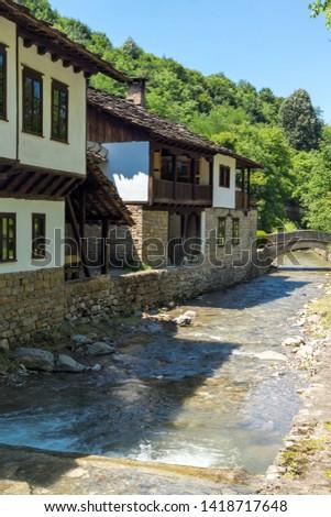 ETAR, GABROVO, BULGARIA- JULY 6, 2018: Old house in Ethno village Etar (Etara) near town of Gabrovo, Bulgaria #1418717648